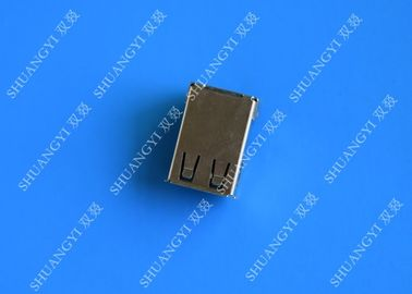 4 Pin AF Type USB Charging Connector , Right Angle Female SMT USB 2.0 Connector