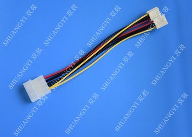 Hard Drive HDD SSD Cable Harness Assembly , Molex to Dual SATA Power Splitter Cable