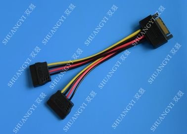 Chiny SATA To Dual SATA Data Cable Splitter SSD HDD SATA Cable For Hard Drive dostawca