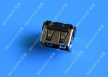 USB 2.0 A Type Female Micro USB Connector Short Body 90 Degree 4 Pin