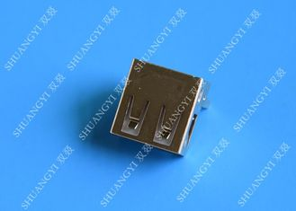 Female Straight Pin USB Charging Connector With 30 MΩ Contact Resistance