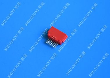 Customized Red External SATA Connector Voltage 125Vac Female SMT 7 Pin