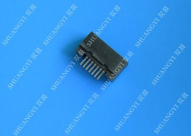 7 Pin ESATA Port Connector Straight Solder Inverted Type For Laptop
