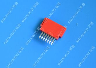 Red 1.27mm ESATA Port Connector , Crimp Type Electronics Male ESATA Connector