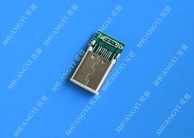 Male Mobile Phone USB Connector Type C USB 3.1 With Copper Alloy Contact