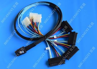 1M Serial Attached SCSI Cable Mini SAS 36-Pin Male To SAS 29-Pin Female Cable
